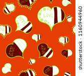 seamless pattern with hearts....   Shutterstock . vector #1160944960