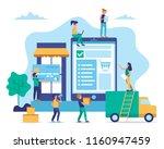 online shopping concept...   Shutterstock .eps vector #1160947459