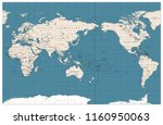 pacific centered world map... | Shutterstock .eps vector #1160950063