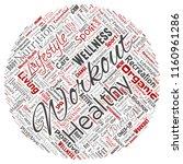 vector conceptual healthy... | Shutterstock .eps vector #1160961286