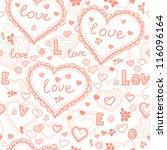 love texture   seamless pattern ... | Shutterstock .eps vector #116096164