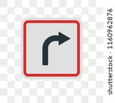 u turn vector icon isolated on... | Shutterstock .eps vector #1160962876