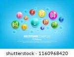 vitamin complex poster for... | Shutterstock .eps vector #1160968420
