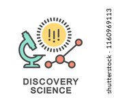 icon discovery science. the... | Shutterstock .eps vector #1160969113