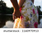 two lovers  a guy and a girl... | Shutterstock . vector #1160970913