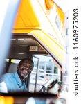 happy mature african american... | Shutterstock . vector #1160975203