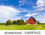 Agriculture Landscape With Old...