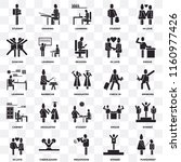 set of 25 transparent icons... | Shutterstock .eps vector #1160977426