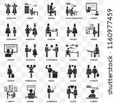 set of 25 transparent icons... | Shutterstock .eps vector #1160977459