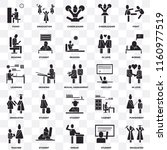 set of 25 transparent icons... | Shutterstock .eps vector #1160977519