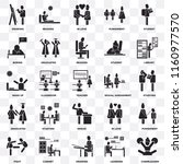 set of 25 transparent icons... | Shutterstock .eps vector #1160977570
