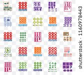 set of 25 transparent icons... | Shutterstock .eps vector #1160978443