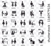 set of 25 transparent icons... | Shutterstock .eps vector #1160979136