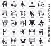set of 25 transparent icons... | Shutterstock .eps vector #1160979313