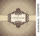 vintage frame | Shutterstock .eps vector #116098540