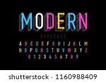 modern font design  alphabet... | Shutterstock .eps vector #1160988409