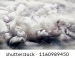 abstract background of clouds... | Shutterstock . vector #1160989450