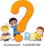 illustration of stickman kids... | Shutterstock .eps vector #1160989780