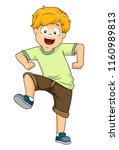 illustration of a kid boy... | Shutterstock .eps vector #1160989813