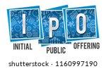 ipo   initial public offering...   Shutterstock . vector #1160997190