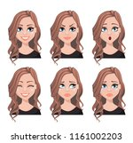face expressions of realtor... | Shutterstock .eps vector #1161002203
