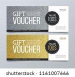 gift voucher design template... | Shutterstock .eps vector #1161007666