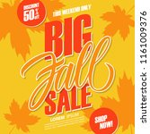 big fall sale. this weekend... | Shutterstock .eps vector #1161009376