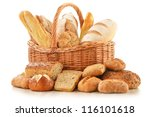 composition with bread and... | Shutterstock . vector #116101618