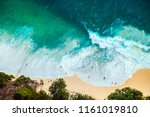 the famous beach and beautiful... | Shutterstock . vector #1161019810