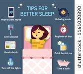 eight tips to better sleep at... | Shutterstock .eps vector #1161020890