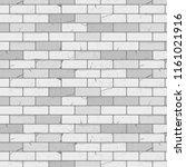 white brick wall texture... | Shutterstock .eps vector #1161021916