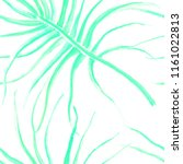 watercolor tropical seamless...   Shutterstock . vector #1161022813