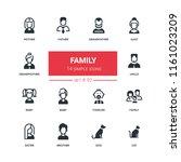 family   flat design style... | Shutterstock .eps vector #1161023209