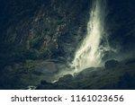 scenic norwegian glacial... | Shutterstock . vector #1161023656