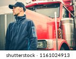 trucks and land transport... | Shutterstock . vector #1161024913