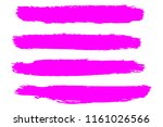 collection of hand drawn pink... | Shutterstock .eps vector #1161026566