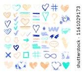 set of chalk vector textures....   Shutterstock .eps vector #1161029173