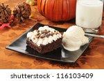 A Chocolate Brownie With Peanu...