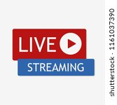 live streaming icon. vector...