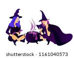 halloween holiday greeting card.... | Shutterstock .eps vector #1161040573