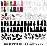 women's clothing set  women's... | Shutterstock .eps vector #1161043246