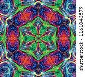 creative bright mandala....   Shutterstock . vector #1161043579