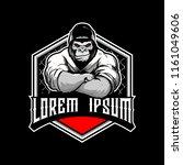 gorilla cartoon martial arts... | Shutterstock .eps vector #1161049606