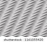 seamless black and white wavy... | Shutterstock .eps vector #1161055420