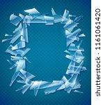 broken glass frame. decorative... | Shutterstock .eps vector #1161061420
