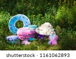 decor for a birthday in nature | Shutterstock . vector #1161062893