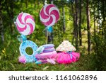 decor for a birthday in nature | Shutterstock . vector #1161062896