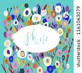 flower meadow  background...   Shutterstock .eps vector #1161063079