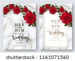 wedding invitation card... | Shutterstock .eps vector #1161071560