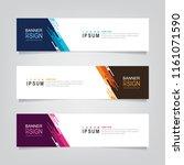 vector abstract web banner... | Shutterstock .eps vector #1161071590